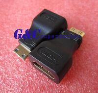 2PCS Black Micro HDMI To HDMI Adapter HDMI Female to Micro Hdmi Male Adapter M46