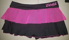 Zumba Skirt athletic dance wear size large black pink