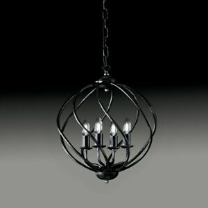 Chandelier Wrought Iron Black And Silver Katerina bon-bl187-4