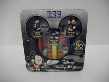 DISNEY MICKEY MOUSE 80 YEARS PEZ CANDY DISPENSER SET TIN-2007 NEW SEALED