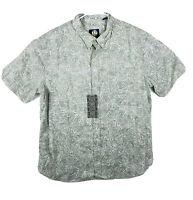 NWT Reyn Spooner Tailored Short Sleeve Hawaiian Button Down Shirt Green XXL 1871