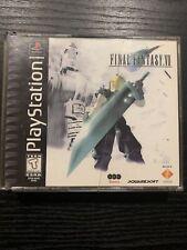 Final Fantasy Vii 7 Sony Playstation 1 Ps1 1997 Black Label