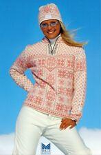 Dale of Norway Peace Sweater Olympics Rare Pink Wool Apres Ski Half Zip Sz S