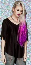 *Lip Service Black Fashion Victim Rayon Mesh Batwing Oversize Tunic Top Chic L