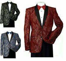 Men's Formal Tuxedo Blazer/Jacket Metallic Sequin Shawl Collar Jacket 816