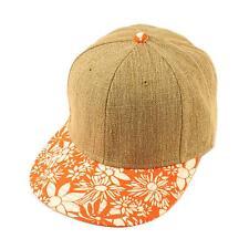 Men's Cotton Summer Blank Bahama Floral Snapback Baseball Ball Cap Hat Brown