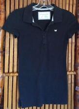 Aeropostale Women's Polo Shirt Short Sleeves Black Size S/P