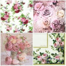 4x Paper Napkins -Romantic Vintage Roses - for Decoupage Decopatch MIX