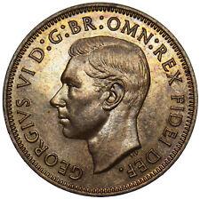 1951 PROOF HALFPENNY - GEORGE VI BRITISH BRONZE COIN - V NICE