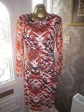 Karen Millen Orange/Black Dress Size 16
