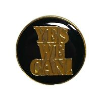 YES WE CAN Barack Obama Joe Biden Presidential Campaign Brass Hat Lapel Pin Tack
