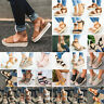 Womens Platform Wedge Espadrilles Sandals Beach Ankle Strap Flat Open Toe Shoes