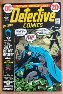 Detective Comics #432 VF High Grade Batman Talia Gun Cover! Lots of Photos