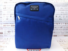 GUESS Large Backpack Blue KENNETH Rucksack Spacious Twin Compt Shoulder Bag BNWT