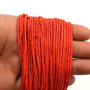 Coral Heishi Tyre Wheel Seed Tribal Afghani Craft Beads Strand Spacer 2mm DIY VZ