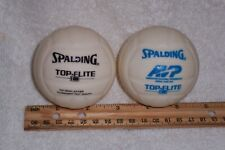 """Vintage Spalding Top-Flite 18 3"""" Mini Toss To The Crowd Volleyballs (Lot of 2)"""