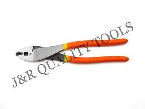 """VCT 10"""" CRIMPING PLIERS WIRE TERMINAL TOOL CONNECTOR BUTT"""