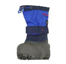 COLUMBIA Toddler Powderbug Plus II Snow Boots sz 6 Blue Gray Baby Outdoor Winter