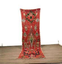 Teppich Hallway Rug Carpet Tribal Boucherouite Cotton Area Handmade Kilim 9''X3'