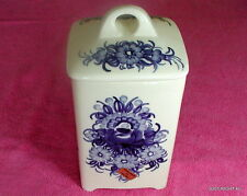 "ZF Kolo Hand Painted in Poland  6 7/8"" x 4 1/2"" LIDDED CANISTER(s) (2 avail)"