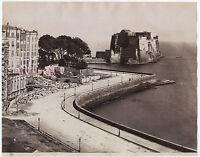 Napoli Castel Dell'Ovo Lavoro Italia Foto Sommer Vintage Albumina Ca 1875