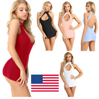 Women Slim Fit Nightwear Lingerie Sleepwear Cocktail Club Wear Sexy Mini Dress