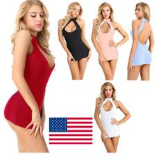Women Slim Fit Nightwear Lingerie Sleepwear Cocktail Club Wear Sexy Mini Dress
