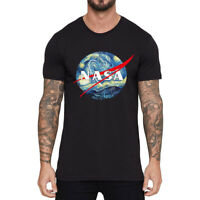 NASA World Men's Cotton Funny Cool T-shirts Short Sleeve Tops summer Tee