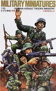 Tamiya 35030 WWII German Assault Troops 1/35 Scale Plastic Model Figures