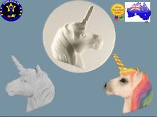 Unicorn Head Silicone Mould Gumpaste Candle Fondant Polymer Silicon Cake Mold