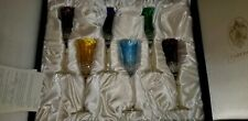 Tatiana Faberge Signed Boxed Set of 6 Faberge Xenia Champagne Flutes goblets