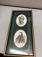 """HOME INTERIOR / HOMCO CHRISTMAS PICTURE NICELY FRAMED 21"""" TALL FATHER CHRISTMAS"""