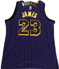 Lebron James Signed Los Angeles Lakers Nike NBA Jersey COA