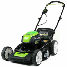 "Greenworks (21"") 80-Volt Lithium-Ion 3-In-1 Cordless Electric Lawn Mower (Mow..."