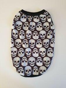 Black & White Skull Design Dog T-shirt Costume Pet Halloween Outfit