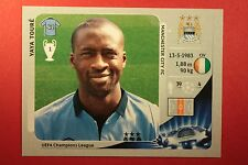 PANINI CHAMPIONS LEAGUE 2012/13 N. 254 Y. TOURè M. CITY BLACK BACK MINT!