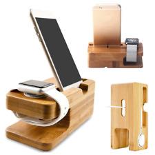 Dock station d'accueil bois bambou pour Apple📱 Watch iPhone iPad suivi Rapide🚀