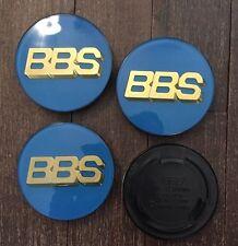 4 x BBS blau/or Nabendeckel Felgendeckel radnabenkappen kappendeckel 70 mm