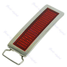 Programmable Red LED Light Scrolling LED Belt Buckle DIY Text Message Display