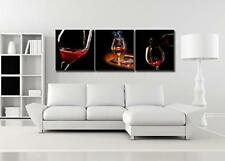 3 Panels Framed Home Decor Canvas Print Painting Picture Modern Wall Art Wine