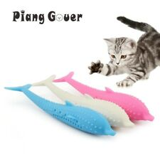 Kitty Toothbrush PRO Soft Silicone Mint Fish Cat Toy Catnip