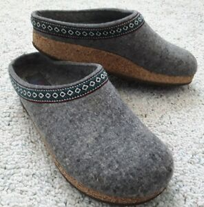 HAFLINGER UNISEX▪SZ 39▪Grizzly Wool Felt Clogs▪CLASDIC▪Womens 8-8.5▪COZY WARM!