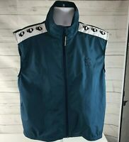 Pearl Izumi Men's Cycling Vest Size Large Blue Full Zip Mesh Back