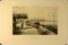 Eau-forte d'après G.H.Boughton, Muiden, Nord Holland