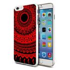 For Various Phones Design Hard Back Case Cover Skin - Black Red Mandala