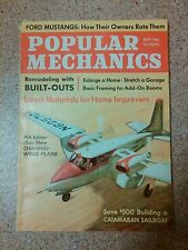 Old vintage 1964 Popular Mechanics Magazine Ford mustang built-outs channel wing