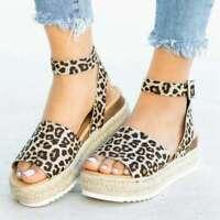 Platform Sandals Women Wedges Shoes High Heels Sandals Buckle Shoes Fashion