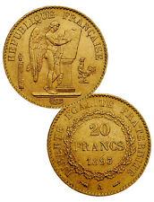 Random Date 1871-1898 French Gold 20 Francs Angel Type Coin .1867oz AGW SKU29056