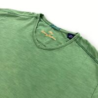 Tommy Bahama Men's Short Sleeve V-Neck T-Shirt Heather Green • Large