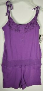 O'Rageous-Girls Solid One Piece Romper - Bright Violet-Size (M)10-12 New w/ tags